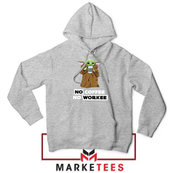 The Child No Coffee No Workee Grey Hoodie