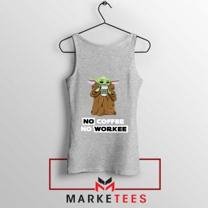 The Child No Coffee No Workee Grey Tank Top