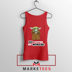 The Child No Coffee No Workee Red Tank Top