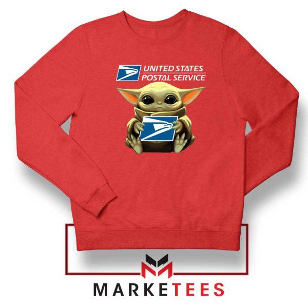 The Child US Postal Service Red Sweatshirt
