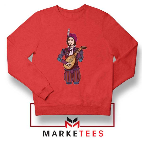 The Witcher Dandelion Red Sweatshirt