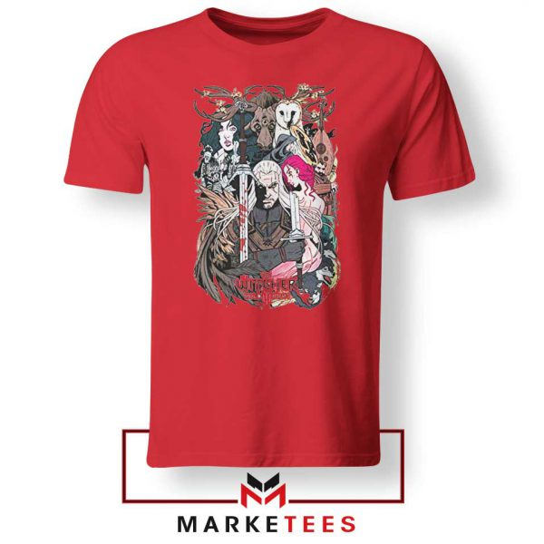 The Witcher Graphic Red Tee Shirt
