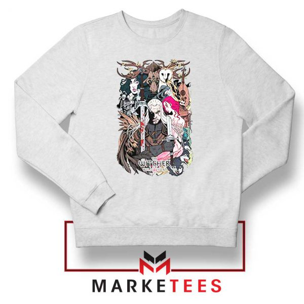 The Witcher Graphic White Sweater
