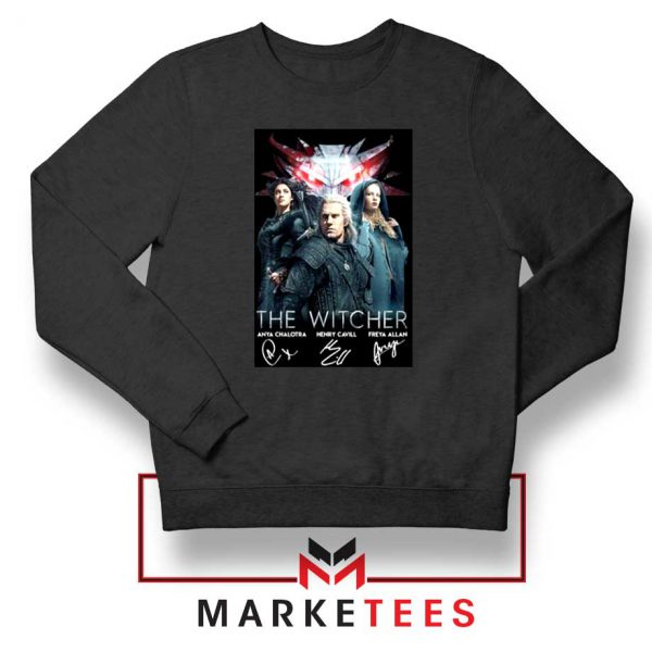 The Witcher Main Characters Black Sweater