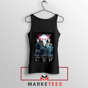The Witcher Main Characters Black Tank Top