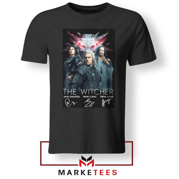 The Witcher Main Characters Black Tshirt