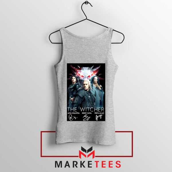 The Witcher Main Characters Grey Tank Top