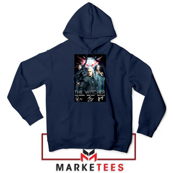 The Witcher Main Characters Navy Hoodie