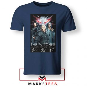 The Witcher Main Characters Navy Tshirt