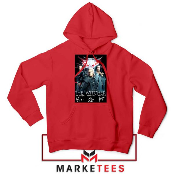 The Witcher Main Characters Red Hoodie