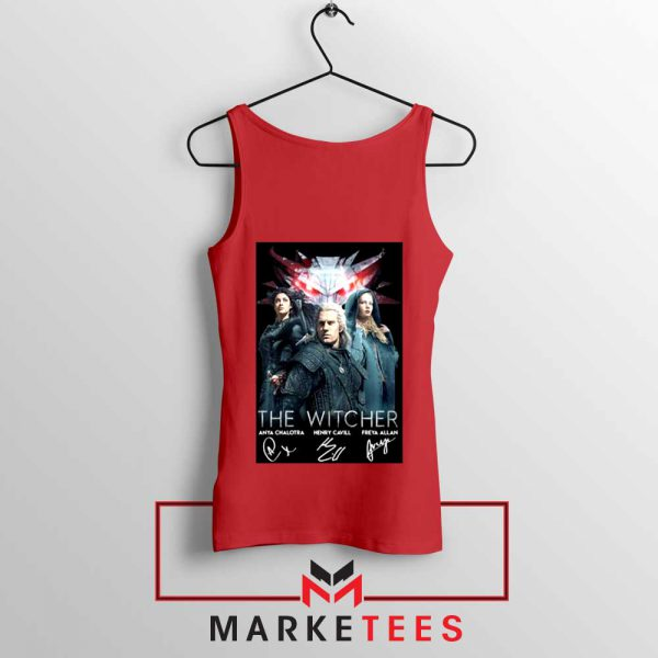 The Witcher Main Characters Red Tank Top