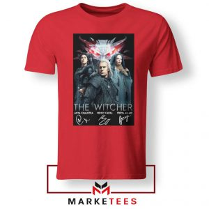 The Witcher Main Characters Red Tshirt