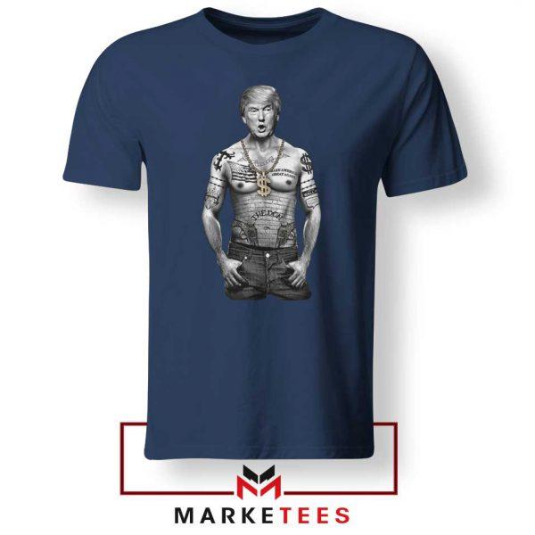 Trump Gangster Navy Tee Shirt