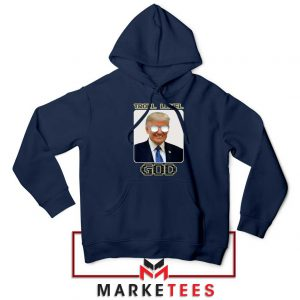 Trump Troll Level God Navy Hoodie