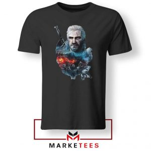 Witcher 3 Into The Fire Black Tee Shirt