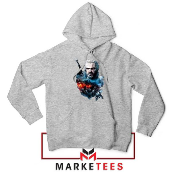 Witcher 3 Into The Fire Grey Hoodie