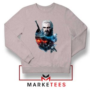 Witcher 3 Into The Fire Grey Sweater