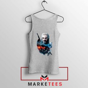 Witcher 3 Into The Fire Grey Tank Top