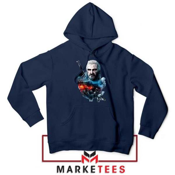 Witcher 3 Into The Fire Navy Hoodie