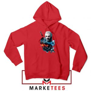 Witcher 3 Into The Fire Red Hoodie