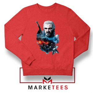 Witcher 3 Into The Fire Red Sweater