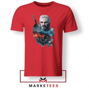 Witcher 3 Into The Fire Red Tee Shirt