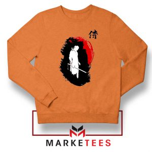 Witcher Art Design Orange Sweatshirt