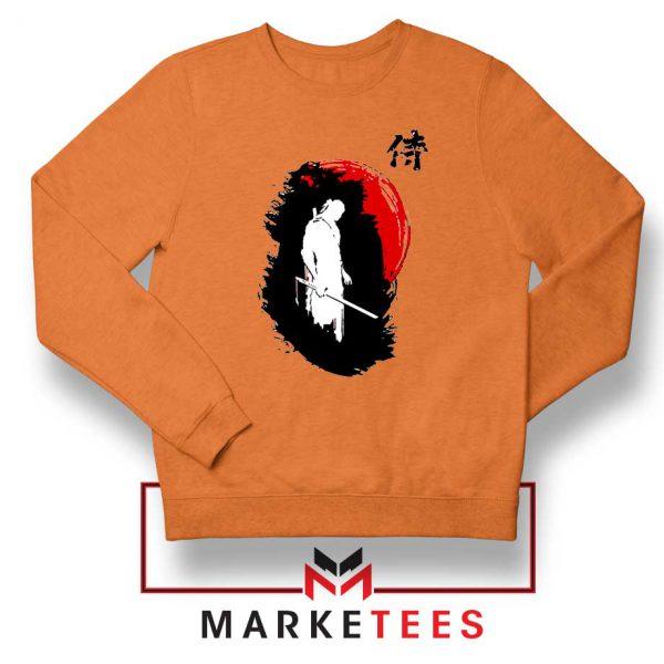 Witcher Art Design Orange Sweatshirt