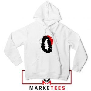 Witcher Art Design White Hoodie