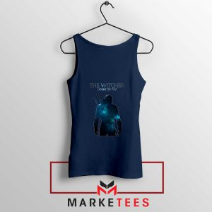 Witcher Geralt Navy Tank Top