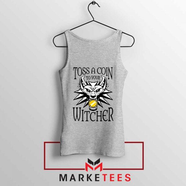 Witcher Logo Grey Tank Top