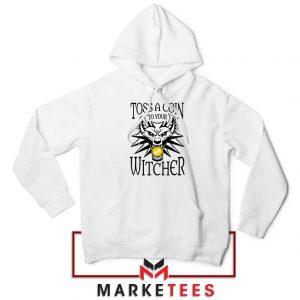 Witcher Logo White Hoodie