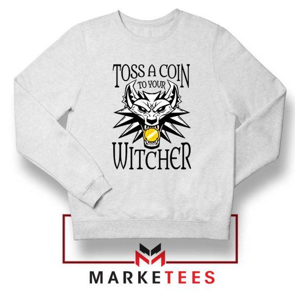 Witcher Logo White Sweater