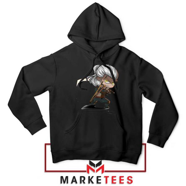 Witcher Rise of The White Wolf Black Hoodie