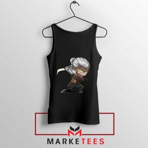 Witcher Rise of The White Wolf Black Tank Top