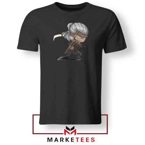 Witcher Rise of The White Wolf Black Tee