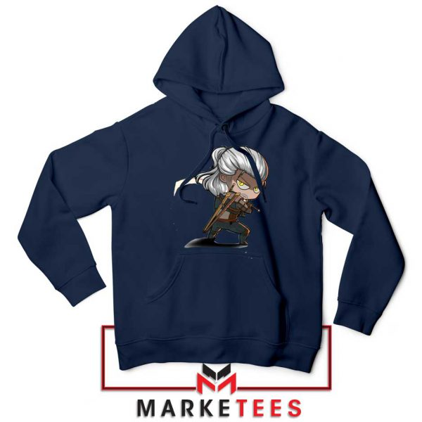 Witcher Rise of The White Wolf Navy Hoodie