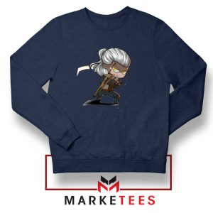 Witcher Rise of The White Wolf Navy Sweater