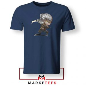 Witcher Rise of The White Wolf Navy Tee