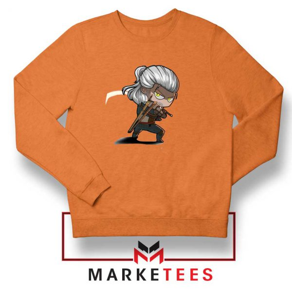 Witcher Rise of The White Wolf Orange Sweater