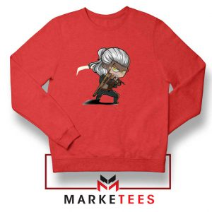 Witcher Rise of The White Wolf Red Sweater
