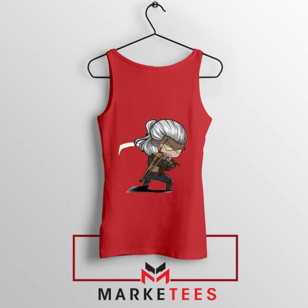 Witcher Rise of The White Wolf RedTank Top