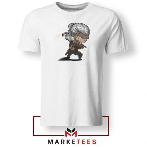 Witcher Rise of The White Wolf White Tee