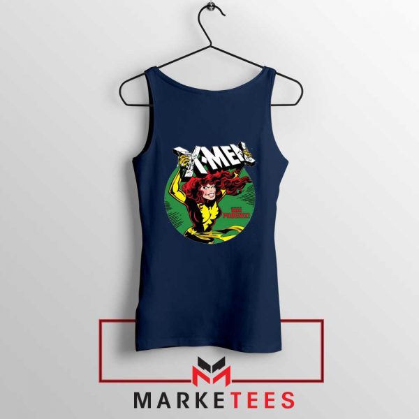 X Men Defeated Navy Tank Top