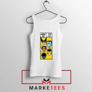 X Men Face Corner Box Tank Top