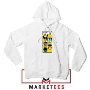 X Men Face Corner Box White Hoodie