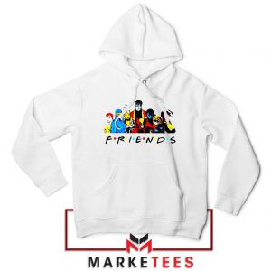 X Men Friends Team White Hoodie