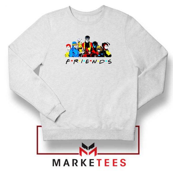 X Men Friends Team White Sweatshirt
