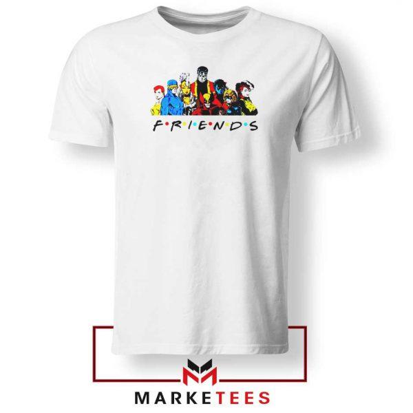 X Men Friends Team White Tee Shirt