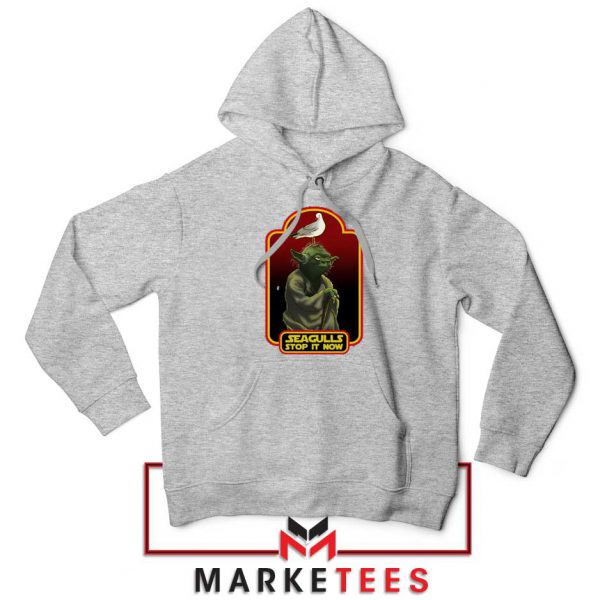 Yoda Seagull Stop It Now Grey Hoodie